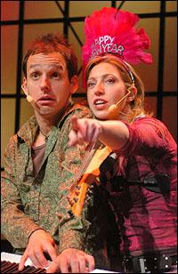 Brendan Milburn (L) & Valerie Vigoda of GrooveLily