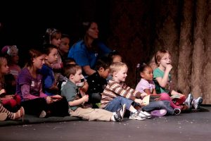 Enraptured kids watching BLUES CLUES LIVE! at Grand Rapids Civic Theatre