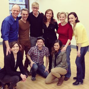 Molly Shannon with the cast of her TYA show TILLY THE TRICKSTER