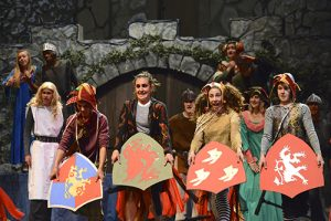 Santa Barbara High School SPAMALOT Knights of the Round Table