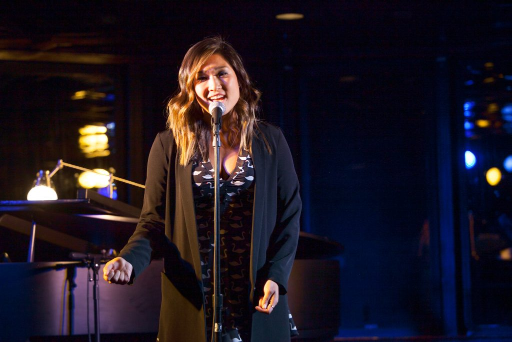 "Glee's Jenna Ushkowitz delivered a show-stopping ""Without the Guy,"" from Disenchanted."