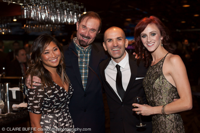 (L to R) Jenna Ushkowitz, Director Barry Ivan, Sean and Hallie Cercone