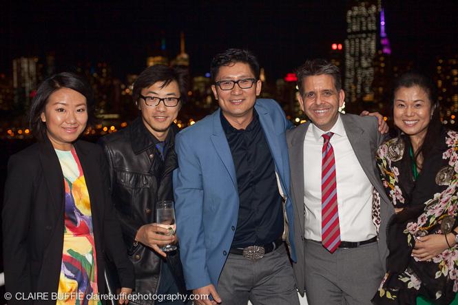 (L to R): Polo Chen, Raymond Chu, Ramy Inocencio, TRW VP of Global Operations Ken Dingledine and Sophie Qi