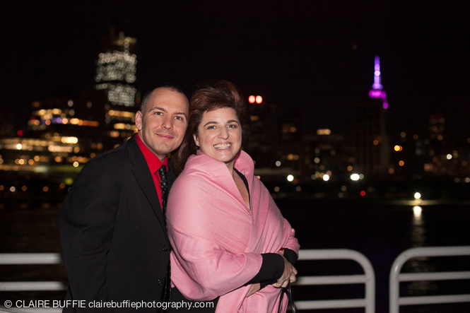 TRW Assistant VP of Music & Creative David Abbinanti (Saturday Night Fever, The Perfect Dog) and his enchanting wife Vicki enjoy the evening on the deck of the Atlantis.