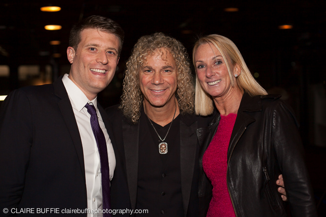 (L to R) Russ Spiegel (A&E), David Bryan and the lovely Amy Spiegel